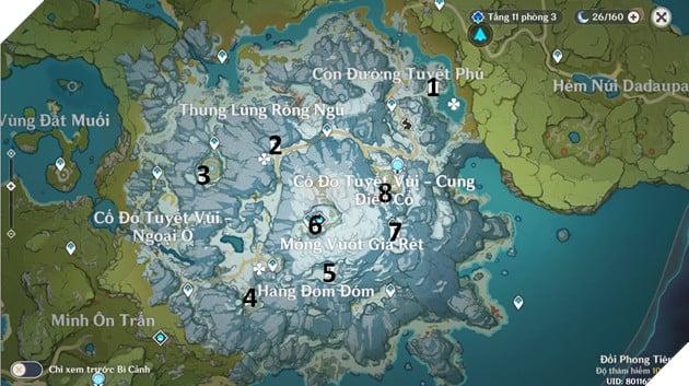 Hướng dẫn cách lấy vũ khí trọng kiếm Tuyết Vùi Tinh Ngân trong phiên bản 1.2 của Genshin Impact