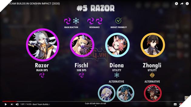 Top những đội hình mạnh nhất Genshin Impact để game thủ tăng tiến sức mạnh tốt nhất 5