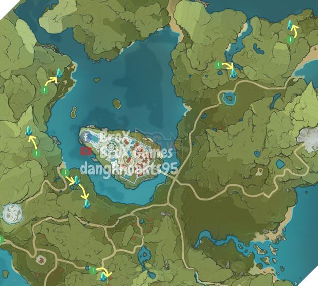 Genshin Impact: Hướng dẫn đường farm Thánh di vật, đá và Elite Boss toàn bản đồ bản 1.3 9