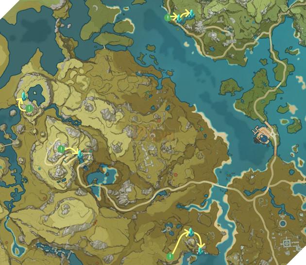 Genshin Impact: Hướng dẫn đường farm Thánh di vật, đá và Elite Boss toàn bản đồ bản 1.3 10