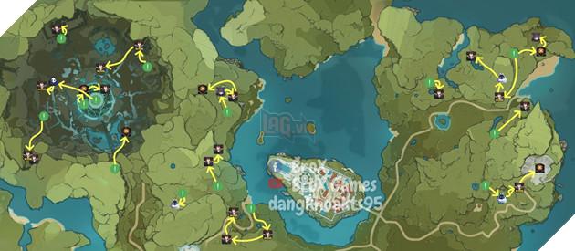 Genshin Impact: Hướng dẫn đường farm Thánh di vật, đá và Elite Boss toàn bản đồ bản 1.3 2