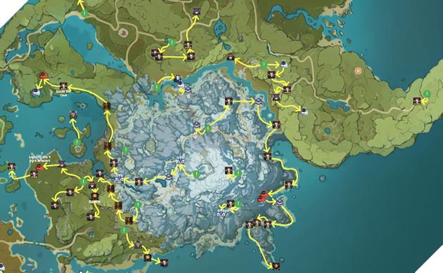 Genshin Impact: Hướng dẫn đường farm Thánh di vật, đá và Elite Boss toàn bản đồ bản 1.3 3