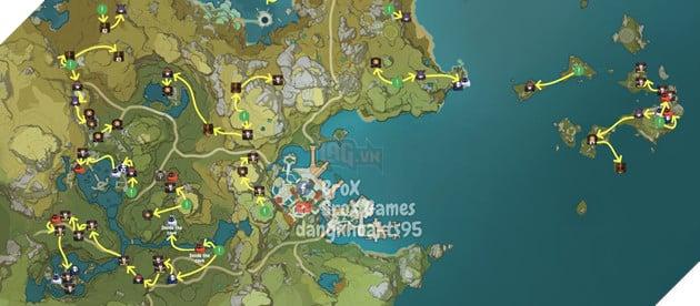 Genshin Impact: Hướng dẫn đường farm Thánh di vật, đá và Elite Boss toàn bản đồ bản 1.3 4