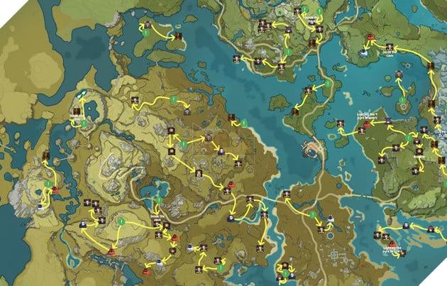 Genshin Impact: Hướng dẫn đường farm Thánh di vật, đá và Elite Boss toàn bản đồ bản 1.3 5