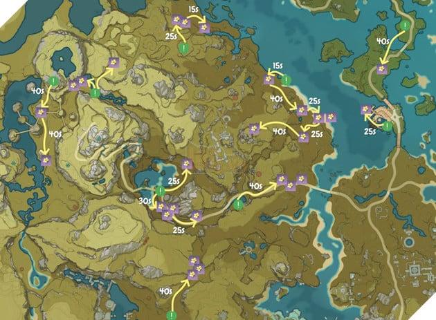 Genshin Impact: Hướng dẫn đường farm Thánh di vật, đá và Elite Boss toàn bản đồ bản 1.3 7