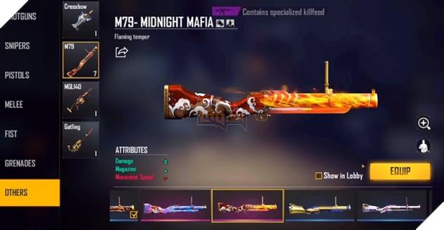 Top 5 skin M79 đẹp nhất trong Free Fire 6