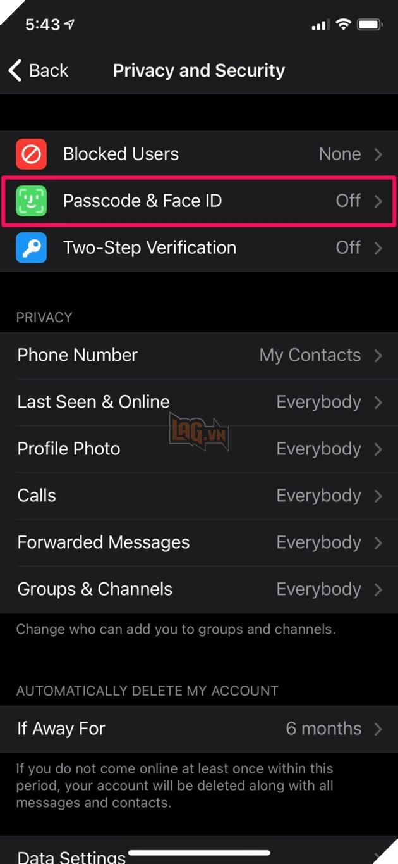 Hướng dẫn: Cách bảo mật Telegram bằng Face ID trên iPhone hoặc Touch ID  4