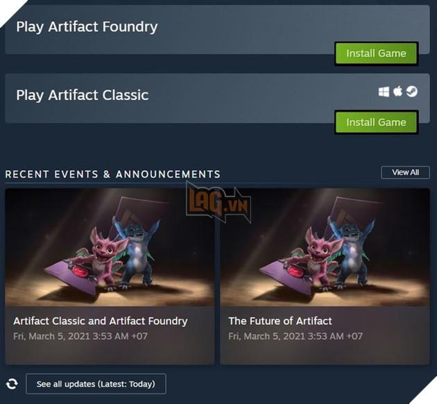 Sau ba năm ra mắt, Artifact chính thức trở thành Dead game