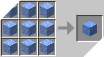 Cách chế tạo ra băng xanh trong minecraft