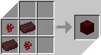 Cách chế tạo ra khối gạch địa ngục đỏ trong minecraft