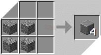 Cách chế tạo ra đá andesit đã đánh bóng trong minecraft