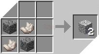 Cách chế tạo ra đá diorit trong minecraft