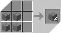 Cách chế tạo ra gạch đá trong minecraft