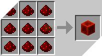 Cách chế tạo ra khối đá đỏ trong minecraft