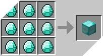 Cách chế tạo ra khối kim cương trong minecraft