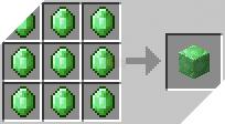 Cách chế tạo ra khối ngọc lục bảo trong minecraft