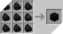 Cách chế tạo ra khối than trong minecraft