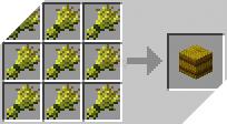 Cách chế tạo ra kiện rơm trong minecraft