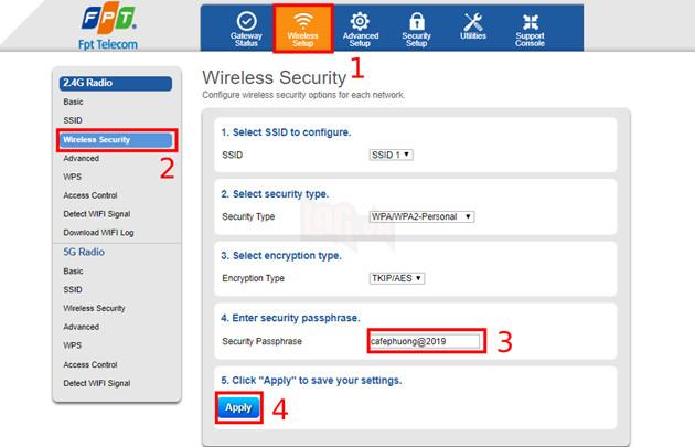Hướng dẫn cách đổi mật khẩu wifi Viettel, VNPT và FPT đơn giản nhất 3