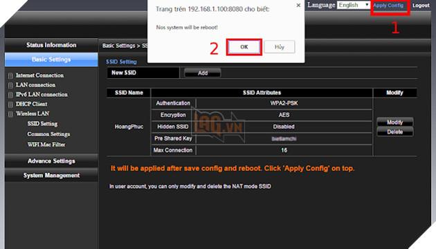 Hướng dẫn cách đổi mật khẩu wifi Viettel, VNPT và FPT đơn giản nhất 6
