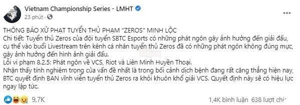 LMHT: SBTC Esports chính thức sa thải Zeros sau phát ngôn vạ miệng của anh 2