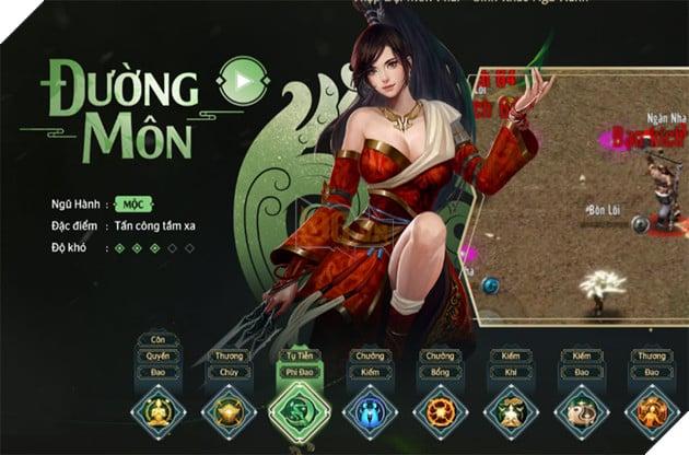 Võ Lâm Truyền Kỳ 1 Mobile: Hướng dẫn cách tăng điểm kĩ năng phái Đường Môn
