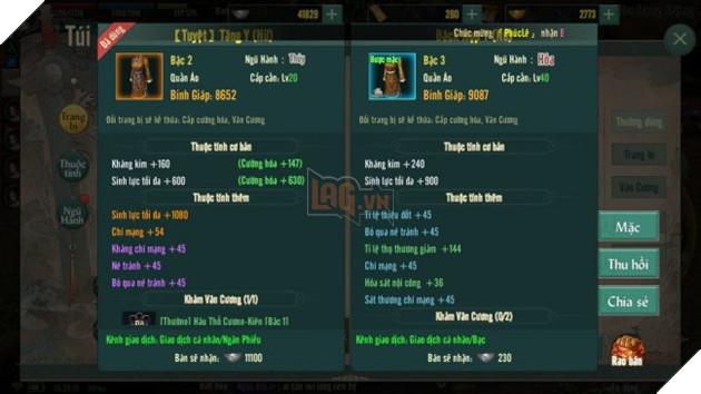 Hướng dẫn cách tìm và nâng cấp đồ Hoàng Kim trong VLTK 1 Mobile 4