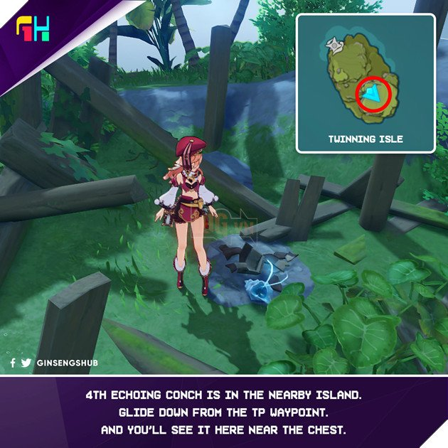 Hướng dẫn vị trí Ốc Biển Vọng Âm để lấy trang phục của Barbara trong Genshin Impact 4
