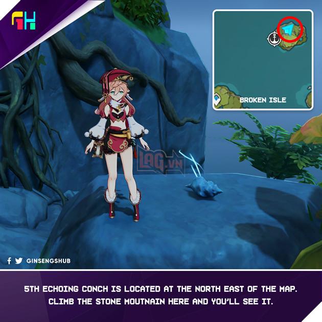 Hướng dẫn vị trí Ốc Biển Vọng Âm để lấy trang phục của Barbara trong Genshin Impact 5
