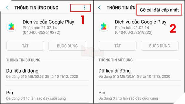 """Hướng dẫn: 7 cách khắc phục lỗi """"Rất tiếc, dịch vụ của Google Play đã ngừng hoạt động trên Android 5"""