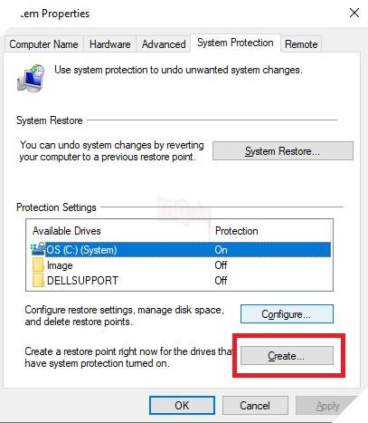 Cách tạo và sử dụng điểm System Restore Point trong máy tính Windows 10 6