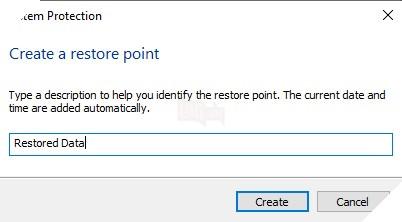 Cách tạo và sử dụng điểm System Restore Point trong máy tính Windows 10 7