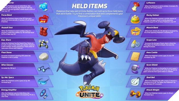Pokemon Unite: Hướng dẫn trang bị mạnh nhất theo từng Pokemon theo Rank quốc tế