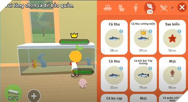 Hướng dẫn cách đặt bể cá trong nhà khi tham gia Play Together 4