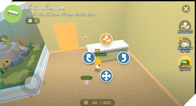 Hướng dẫn cách đặt bể cá trong nhà khi tham gia Play Together 2