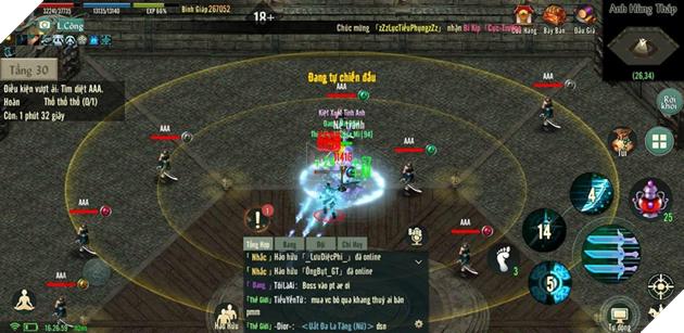 """""""Bí kíp"""" chinh phục Anh Hùng Tháp trong Võ Lâm Truyền Kỳ 1 Mobile 9"""