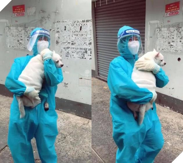 Cô tình nguyện viên GenZ đi giúp dân test Covid còn được tặng cả bé cún mang về 2
