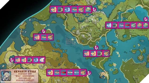 Genshin Impact: Hướng dẫn tất cả vị trí bãi câu cá và cách lấy Đao Xiên Cá miễn phí 8