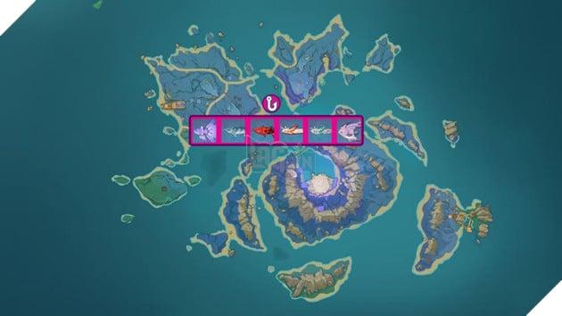 Genshin Impact: Hướng dẫn tất cả vị trí bãi câu cá và cách lấy Đao Xiên Cá miễn phí 5