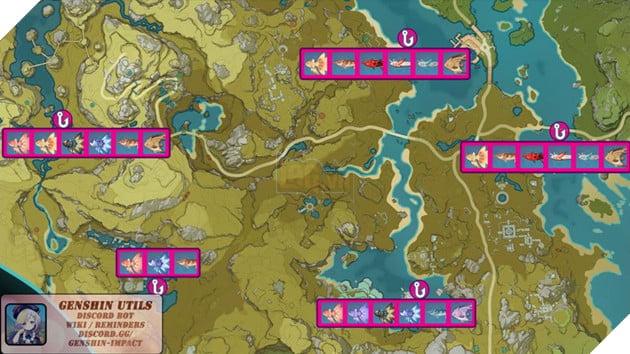 Genshin Impact: Hướng dẫn tất cả vị trí bãi câu cá và cách lấy Đao Xiên Cá miễn phí 6