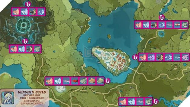 Genshin Impact: Hướng dẫn tất cả vị trí bãi câu cá và cách lấy Đao Xiên Cá miễn phí 9
