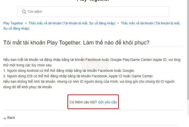 Hướng dẫn cách khôi phục tài khoản Play Together bị ban 6